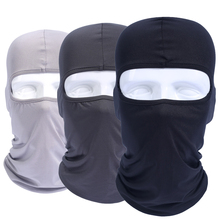 Lycra Balaclava Full Face Mask Windproof Combat Motorcycle Bicycle Hats Cap Tactical Helmet Liner Protection For Men Women