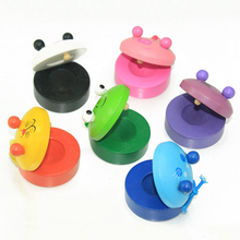 1 Pc Baby Cognitive Lovely Wooden Cartoon Animals Castanets Cute Toys for Children Instruments Kids Early Learning Fun Game Gift(China)