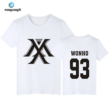 Buy Kpop monsta x concert printing o neck short sleeve t shirt fans supportive summer tee plus size o neck t-shirt for $7.46 in AliExpress store