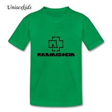 Rammstein Tshirts Boys Girls Graphic Short Sleeve 100% Cotton Rock Band T Shirt Baby Kids Clothes Children Tops Printed T-shirt