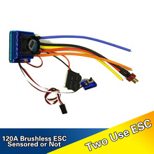 HAKRC Professional 120A ESC Sensored Brushless Speed Controller For 1/8 1/10 Car/Truck Crawler Car Vehicle Used