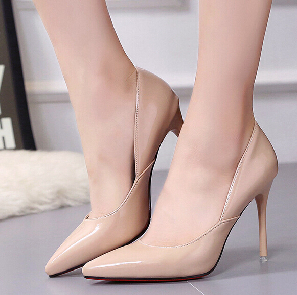 Sexy Pumps designer High Heels women pointed toe Silver Gold Nude Shoes thin high heel pump Wedding Office High Heeled Shoes<br><br>Aliexpress