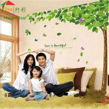 180 * 130 big size home decoration green Trees shade TV background Bedroom living room cheap wall paper sticker