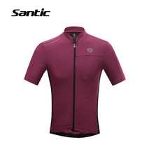 Buy Santic Mens Cycling Jersey Short Sleeve Road Bicycle Bike Jersey Breathable Downhill MTB Jersey Bicicleta Shirt Cycling Clothing for $28.00 in AliExpress store