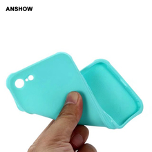 ANSHOW Shockproof Matte Soft TPU Silicone Case For Iphone 7 7 Plus 6 6S Plus Gel Anti-knock Rubber CellPhone Skin Cover 15PCS
