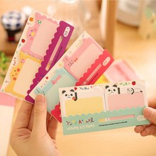 1 piece creative stationery cute cartoon stickers N other post momo pad posted notes this message 12.5*6.7cm mixed color