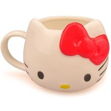 1 Piece Fashional Hello Kitty Ceramic Coffee Cup Lovely Colour