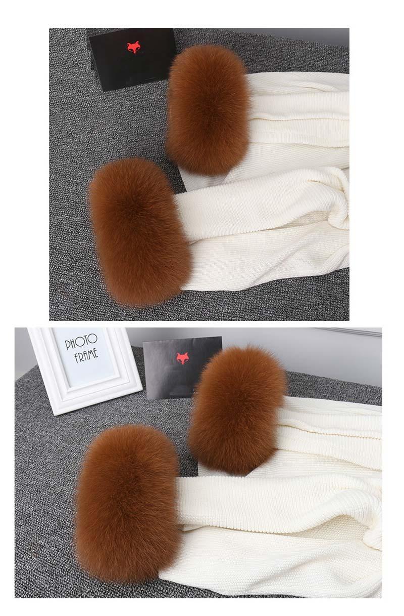 fox fur cuffs camel 2