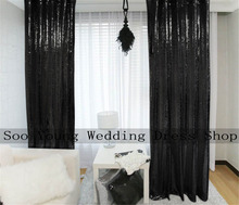 Best On Sale Sequin Curtain-48''x84'' Shimmer Black Sequin Fabric Photography,Sequin Curtains Backdrop Background-Black Decora