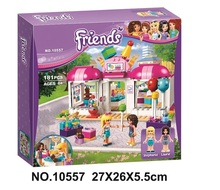 NEW 10557 Friends Heartlake party shop Building Blocks Girls DIY figures Bricks toys Christmas Gift Compatible With Legoed 41132
