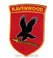 "3.5"" JERICHO TV Series Ravenwood Security Logo Chest Costume Embroidered Emblem applique sew on iron on patch(China)"