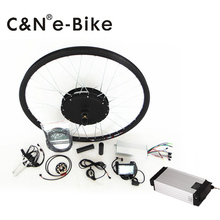 48V 1500W LCD Display Electric Bike Conversion Kit with Rear Rack Battery 48V 18AH