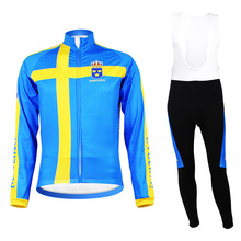 Super Warm Team Sweden Cycling Winter Thermal Fleece Cycling Jerseys mtb Mountain Cycling Clothing uniform maillot Ciclismo(China)