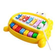 Random color piano music toy one pcs Knocking and playing double function intelligence(China)
