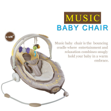 Free shipping metal baby rocking chair electric musical baby bouncer swing chiar wih soft mat
