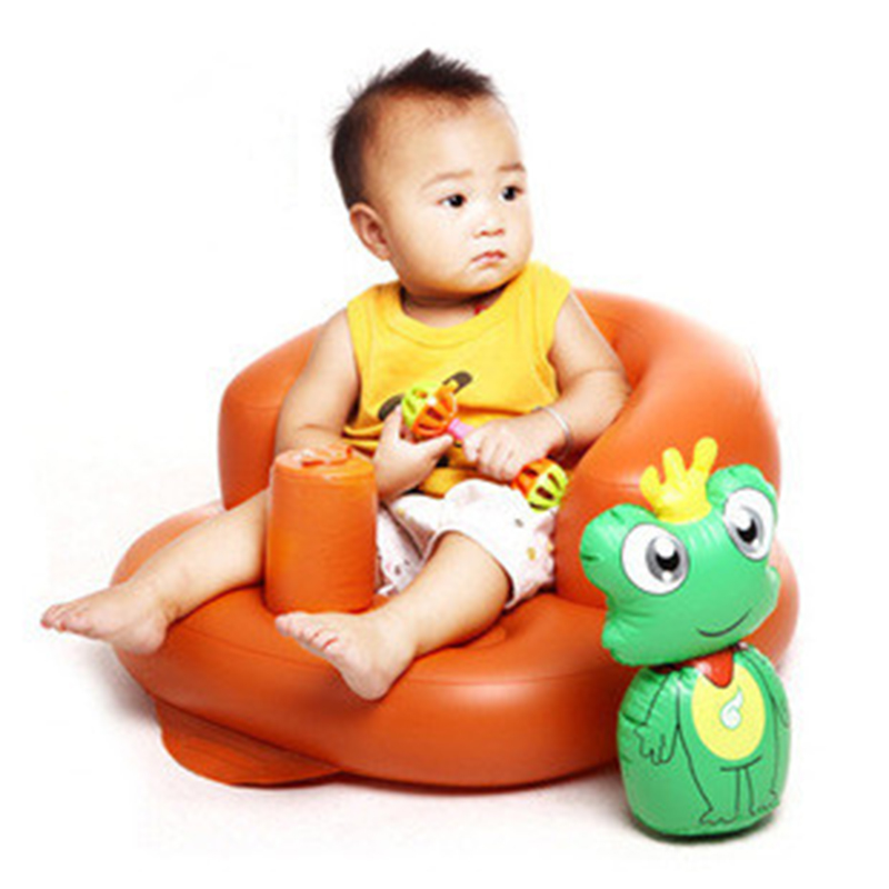 1 pc Cartoon Animal Shaped Multi-function Babys Chair Portable Aerated Sofa Infants Study Chair Soft And Funny Baby Chairs<br>