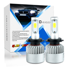 car Led Light H11 H7 H4 H1 H3 9005 9006 LED Bulb Headlight 72W 8000LM COB lamp Automobiles Replace Parts Lamp 6500k xenon white