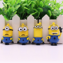 Wholesales Minions usb flash drive 8GB 16GB 32GB 64GB pendrive Despicable Me 2 Memory Stick U disk Pen drive free shipping