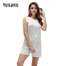 Yusano 2017 Pajamas Casual Cotton O neck Sleeveless Sleepwear Print Kigurumi Button Lace-up Sleepwear Patchwork Nightwear Pijama(China)