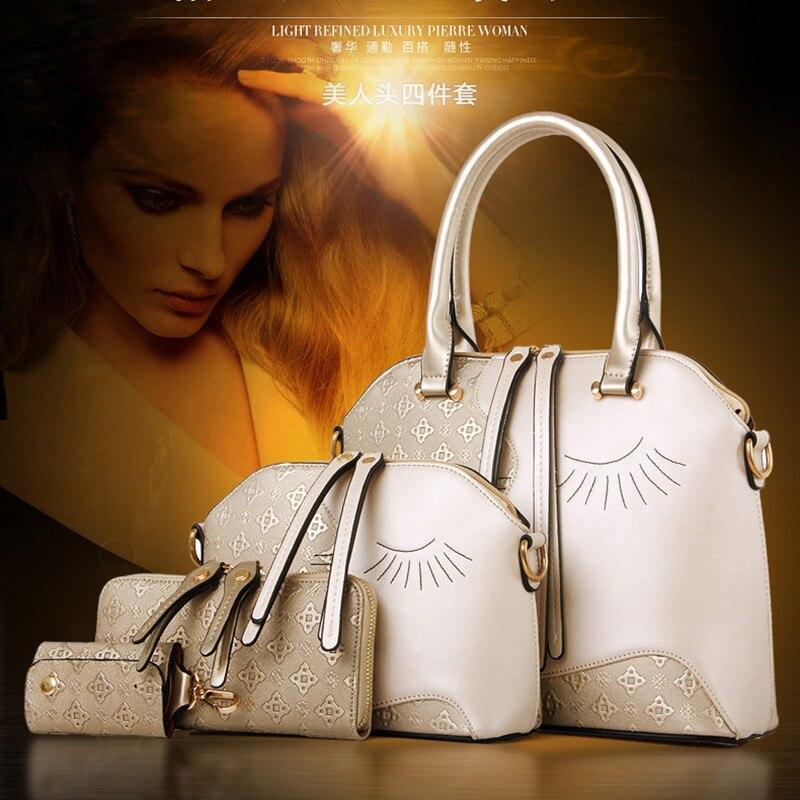 2017 female bag in four - piece lash bag handbag fashion handbags  single shoulder bag<br><br>Aliexpress