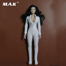 "Female Clothes 1/6 White Women Slim Tight Stretch Leotard for12"" Action Figure Body(China)"