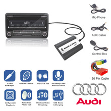 Bluetooth Receiver Car Kit Hands Free Phone Call Wireless Music Adapter for 1998-2006 Audi Chorus Concert Concert Symphony Delta