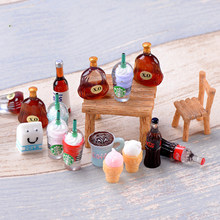 ZOCDOU 1 Piece Coke Cola Bottle Himouto Fridge Drink Water World KFC Model Small Statue Figurine Crafts Ornament Miniatures DIY(China)
