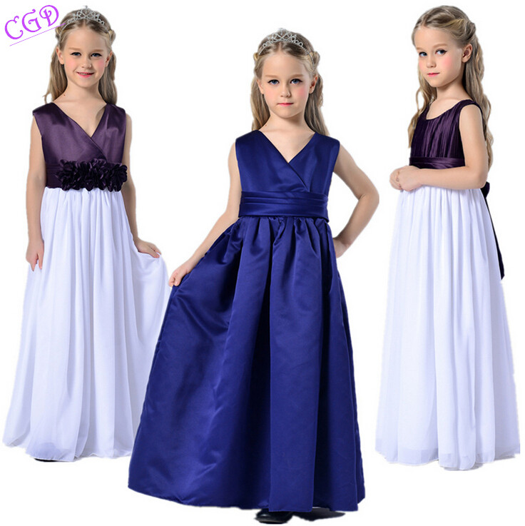Baby Girls Party Wear Dress Kids Flower Bowknot Children Girl Elegant Ceremonies Wedding Birthday Dresses Teenagers Prom Gowns<br><br>Aliexpress