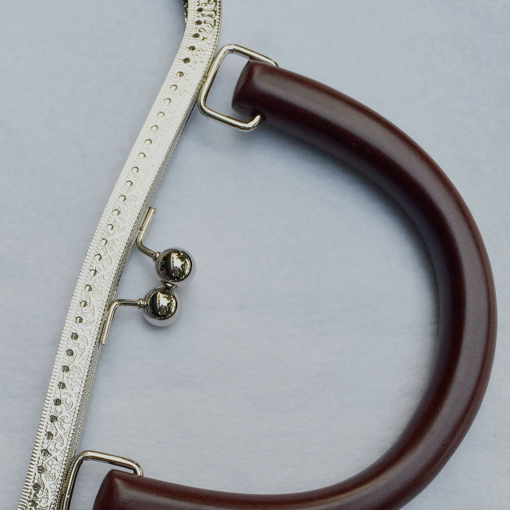 silver metal clasp for bag