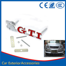 1PCS Rabbit GTI 3D Metal Front Hood Grille Badge Grill Emblem Auto Stickers Car LOGO For VW G32