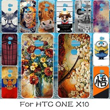 Phone Case For HTC One X10 E66 Hard Plastic Cases Covers DIY Painted Protective Shell For HTC X10 Cover Coque Fundas
