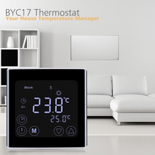 Floureon LCD Touch Screen Room Temperature Controller Thermostat White Backlight Weekly Programmable Underfloor Heating Thermost(China)