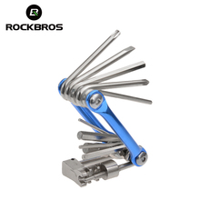ROCKBROS Mini Repair Pocket Folding Tool 11 in 1 Bicycle Mountain Road Bike Tool Set Cycling Multi Repair Tools Kit Wrench