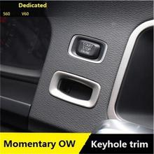 Special Car Interior keyhole panel decorative cover trim stainless steel strip key ring 3D sticker for Volvo S60 V60