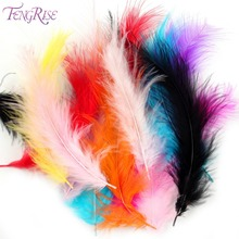FENGRISE 200PCS Rooster Tail Pheasant Feathers Wedding Table Decoration DIY Party Carnival Cosplay Mask Dyed Plume Centerpieces(China)