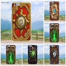 Onlytake Soft TPU Shell For Apple iPhone 4 4S 5 5C SE 6 6S 7 8 Plus X Galaxy Grand Core II Prime Alpha Hearthstone Strategy Card(China)