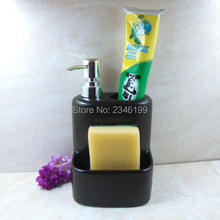 Buy Ceramic Emulsion Empty Bottle Accessories Toothbrush Holder Shower Gel Shampoo Container Toothpaste Bracket Soap Dispenser for $21.38 in AliExpress store