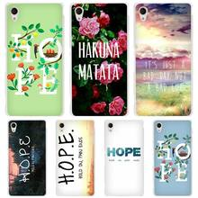 Hold On Pain Ends H.O.P.E hard Transparent Case Cover Coque for Sony Xperia z1 z2 z3 z4 z5 m4 aqua m5 XA XZ C4 E4 E5 C5(China)