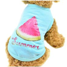 2017 Pet Dog Clothes Teddy Bears dog Clothing Pet Vest T-shirt Watermelon Donuts Rabbit