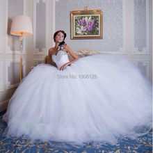 Alibaba Retail Store Vestidos de noiva com foto real White Wedding Dress Ball Gown With Stones Bridal Dresses Lace Up