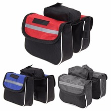 2L Cycling Bicycle Bag Waterproof Bike Top Frame Front Pannier Saddle Tube Double Side Bag Cell Phone Double Pouch Case 3 Colors(China)