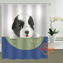 Modern dog cartoon Curtain Shower Curtains Bathroom Accessories polyester fabric waterproof Curtains