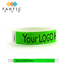 Good sale 200pcs without logo customized waterproof paper wristbands,cheap event wristbands,cheap bands with company slogan