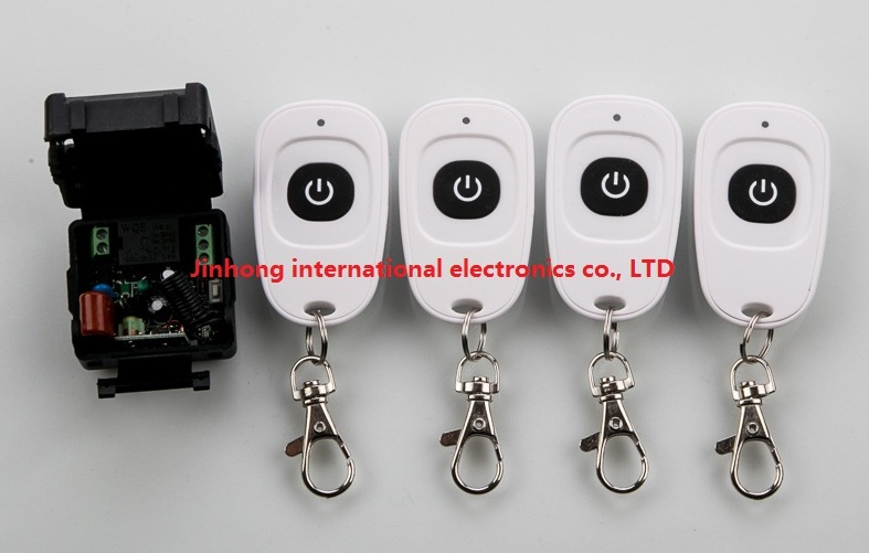 AC220V RF Wireless Mini Switch teleswitch Relay Receiver Remote Controllers For Light switch With White Waterproof Transmitter<br><br>Aliexpress