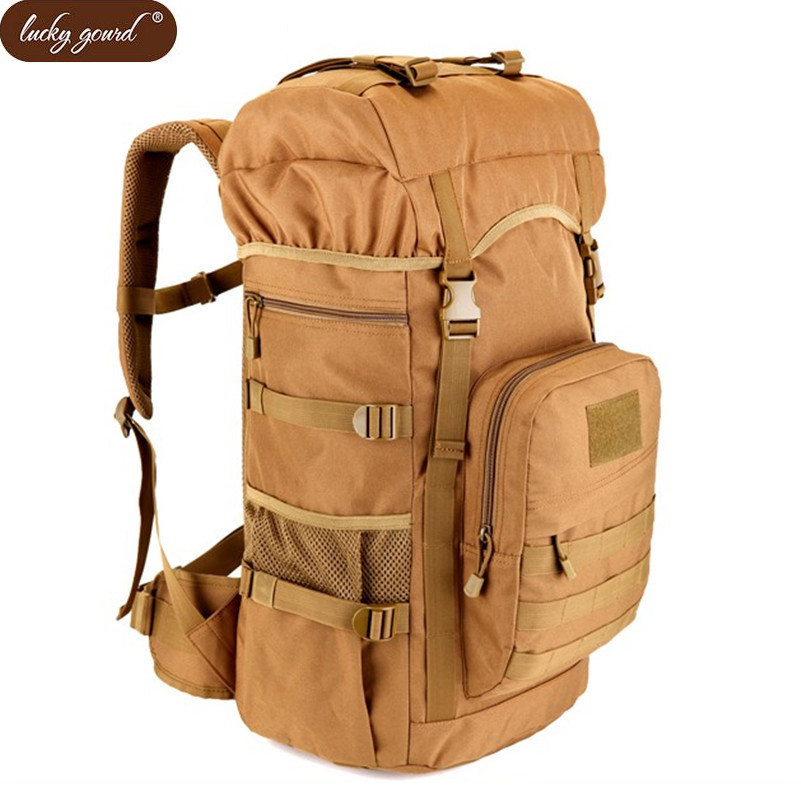 Lucky Gourd 2017 Hot Sale Men 50L Military Army Bag Men Backpack High Quality Waterproof Nylon Backpacks Camouflage Bags D187(China)