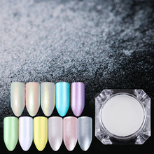 1 Box 1.5g Diamond Pearl Mermaid Nail Glitter Powder Dust Shining White Decoration Glitter pigment Nail Art Tools
