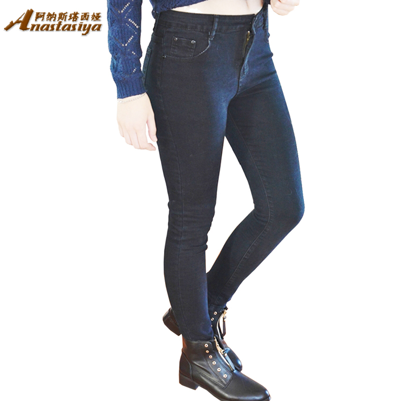 Plus Size 26-40 New Fashion High Waist Jeans Sexy Slim Elastic Skinny casual Feet Pencil Denim pants Women Trousers JeansОдежда и ак�е��уары<br><br><br>Aliexpress