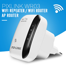 PIXLINK WR03 Wireless WiFi Repeater Router 802.11N/B/G 300Mbps Network for AP Router Range Signal Expander Booster Amplifier