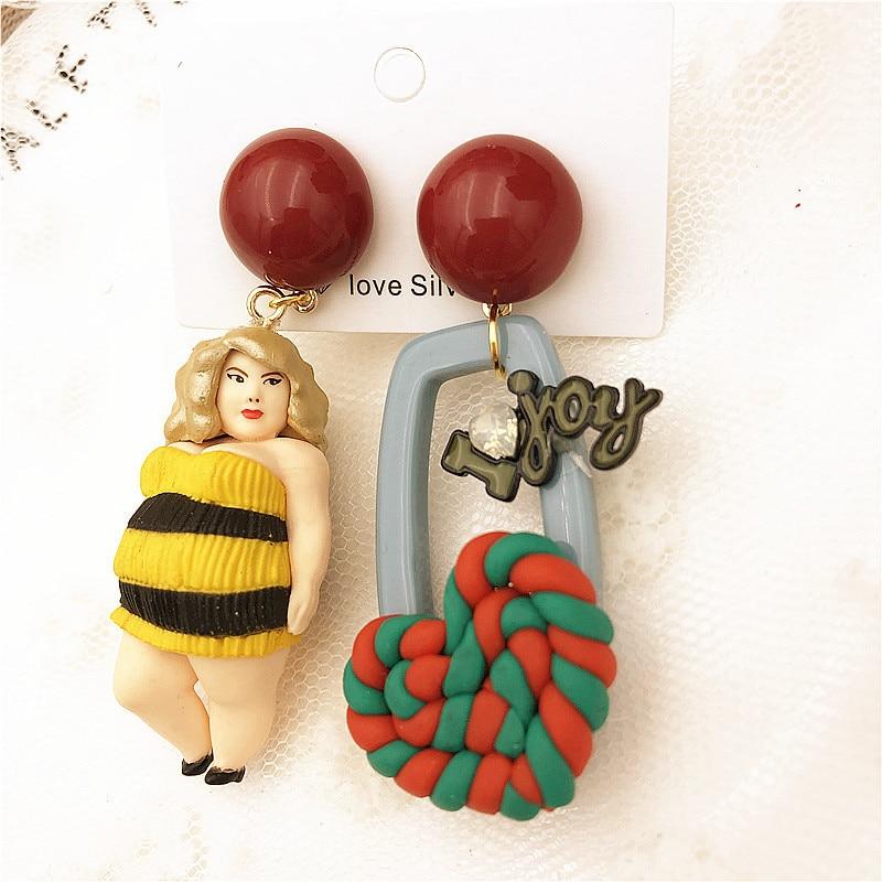Hyerbole Style Statement Dangle Earring For Women Trendy Brand Funny Acrylic