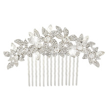 BELLA Fashion Vintage Inspired Flower Hair Comb Pins Bride Jewelry Austrian Crystal Wedding Accessories For Women Jewelry